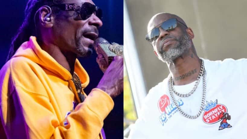 Side by side photos of Snoop Dogg and DMX