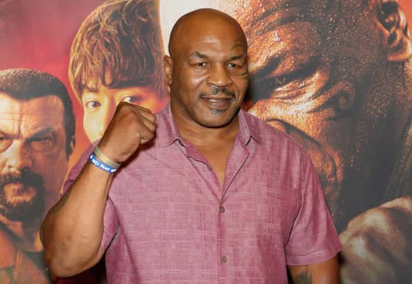 """Actor and former boxer Mike Tyson attends the world premiere of the movie """"China Salesman"""" at the Cannery Casino Hotel on June 15, 2018 in North Las Vegas, Nevada."""