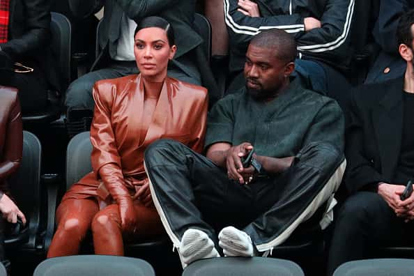 Kim Kardashian and Kanye West attend the Balenciaga show as part of the Paris Fashion Week Womenswear Fall/Winter 2020/2021 on March 01, 2020 in Paris, France.