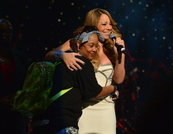 ATLANTA, GA - FEBRUARY 23: Da Brat and Mariah Carey performs at the So So Def 20th anniversary concert at the Fox Theater on February 23, 2013 in Atlanta, Georgia.