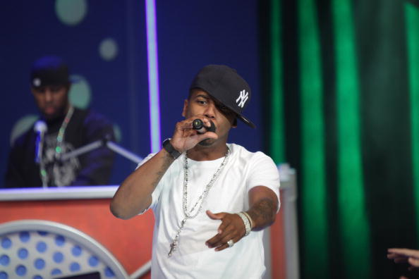 "Recording artist Juelz Santana performs on BET's ""106 & Park"" at BET Studios on April 16, 2010 in New York City."