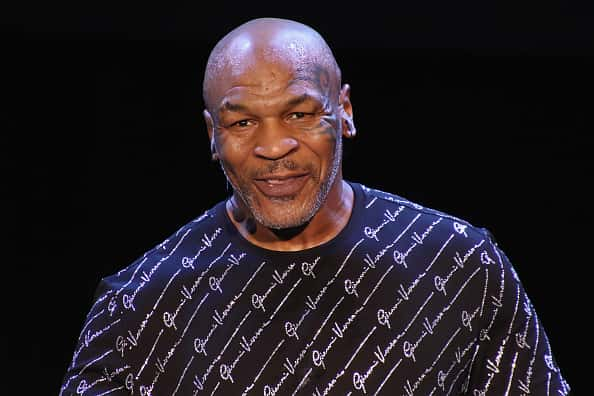"Mike Tyson performs his one man show ""Undisputed Truth"" in the Music Box at the Borgata on March 6, 2020 in Atlantic City, New Jersey."