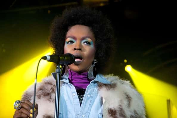 Singer Lauryn Hill performs at the EXPRESS Rocks Hosted By Skullcandy And Vevo At Harry O's Featuring Lauryn Hill on January 26, 2011 in Park City, Utah.
