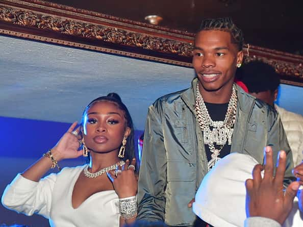 Jayda Cheaves and lil Baby attend Jeezy+Lil Baby Birthday Celebration at Compound on October 6, 2019 in Atlanta, Georgia.