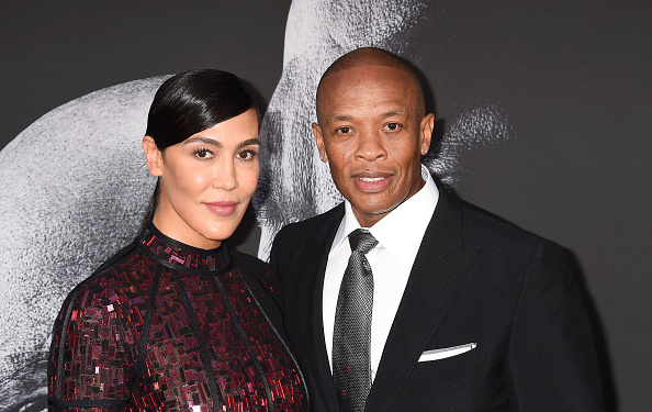 HOLLYWOOD, CA - JUNE 22: Music producer Dr. Dre (R) and wife Nicole Young attend the premiere of HBO's 'The Defiant Ones' at Paramount Theatre on June 22, 2017 in Hollywood, California.