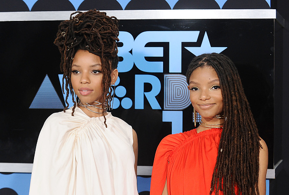 LOS ANGELES, CA - JUNE 25: Chloe Bailey and Halle Bailey of Chloe X Halle attend the 2017 BET Awards at Microsoft Theater on June 25, 2017 in Los Angeles, California.