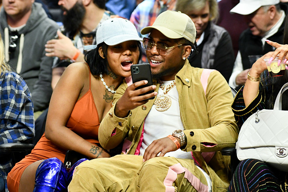 Musician Summer Walker and producer London On Da Track attend a basketball game between the Los Angeles Clippers and the Philadelphia 76ers at Staples Center on March 01, 2020 in Los Angeles, California.