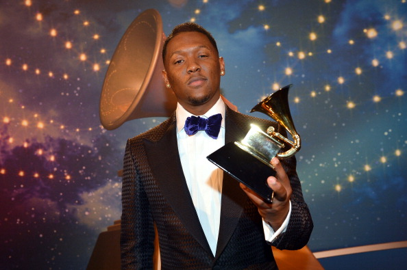 LOS ANGELES, CA - FEBRUARY 10: Producer Hit-Boy poses during the 55th Annual GRAMMY Awards Pre-Telecast at Nokia Theatre L.A. Live on February 10, 2013 in Los Angeles, California.