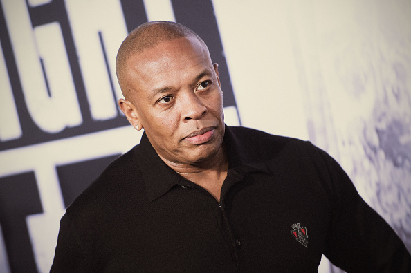 "Dr. Dre attends the premiere of ""Straight Outta Compton"" at Microsoft Theater on August 10, 2015 in Los Angeles, California."