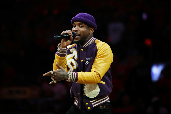 Torey Lanez performs during Game Five of the 2019 NBA Finals between the Golden State Warriors and the Toronto Raptors at Scotiabank Arena on June 10, 2019 in Toronto, Canada. NOTE TO USER: User expressly acknowledges and agrees that, by downloading and or using this photograph, User is consenting to the terms and conditions of the Getty Images License Agreement.