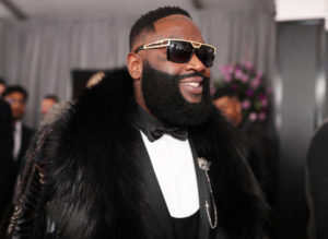 NEW YORK, NY - JANUARY 28: Recording artist Rick Ross attends the 60th Annual GRAMMY Awards at Madison Square Garden on January 28, 2018 in New York City.