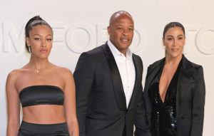 (L to R) Truly Young, Dr. Dre and Nicole Young attend the Tom Ford AW20 show at Milk Studios on February 7, 2020 in Hollywood, California.