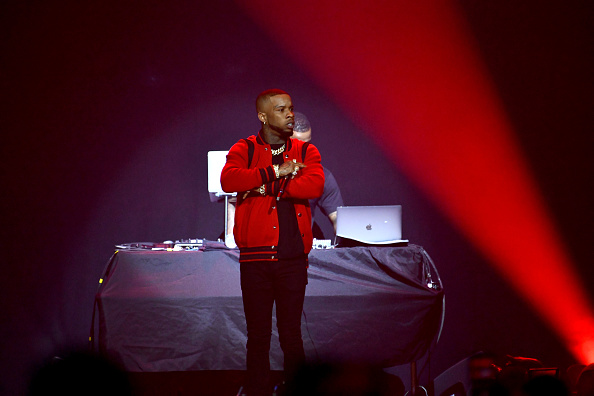Rapper Tory Lanez performs onstage during the final night of the 2019 IndiGOAT tour at Honda Center on October 19, 2019 in Anaheim, California.