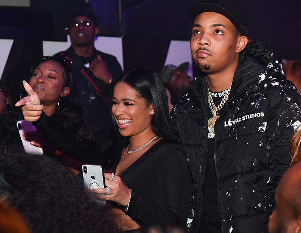 Tania Williams and G Herbo attend the All Black Birthday Celebration at Gold Room on November 30, 2019 in Atlanta, Georgia.