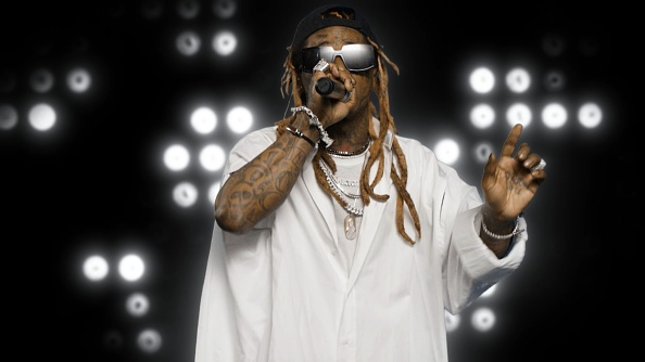 In this screengrab, Lil Wayne performs during the 2020 BET Awards. The 20th annual BET Awards, which aired June 28, 2020, was held virtually due to restrictions to slow the spread of COVID-19.