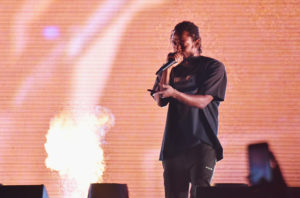 Kendrick Lamar performs on the Rock Stage during day 1 of Grandoozy on September 14, 2018 in Denver, Colorado.