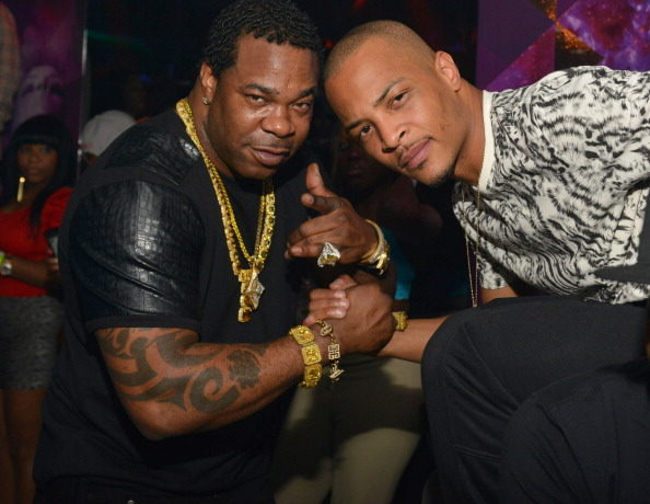 ATLANTA, GA - SEPTEMBER 30: Busta Rhymes and T.I. attend the BET Hip Hop Awards 2013 - Afterparty at Prive on September 30, 2013 in Atlanta, Georgia.