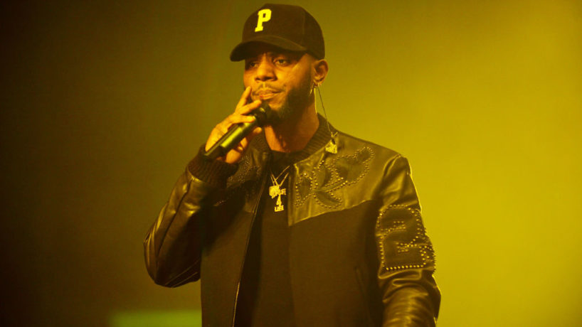 CORAL GABLES, FL - AUGUST 29: Bryson Tiller performs on stage during the 'Set It Off Tour' at Watsco Center on August 29, 2017 in Coral Gables, Florida.
