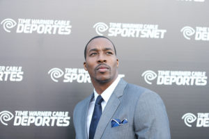 EL SEGUNDO, CA - OCTOBER 01: Dwight Howard arrives at Time Warner Cable Sportsnet launch party held at Time Warner Cable Sports Studios on October 1, 2012 in El Segundo, California.