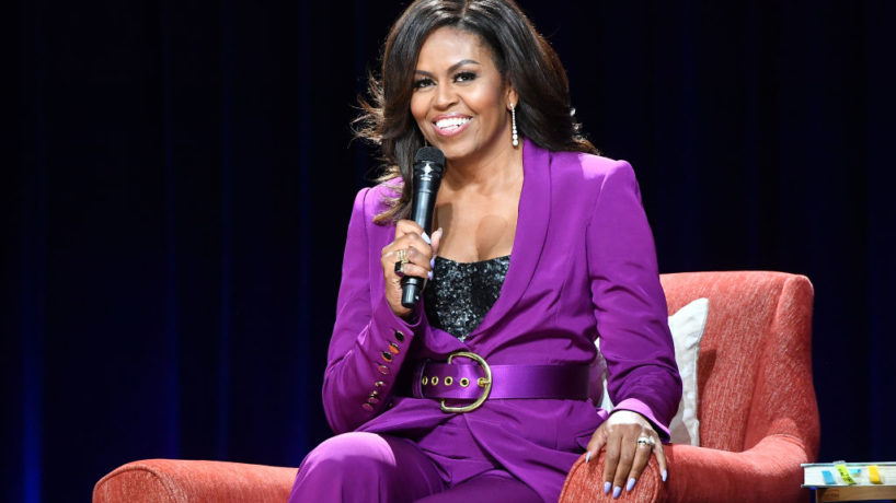 ATLANTA, GEORGIA - MAY 11: Former First Lady Michelle Obama attends 'Becoming: An Intimate Conversation with Michelle Obama' at State Farm Arena on May 11, 2019 in Atlanta, Georgia.