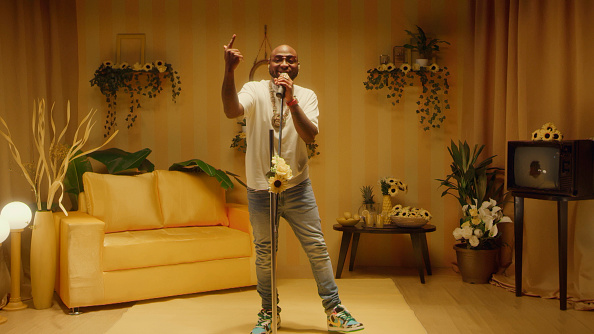 Musical guest Davido performs on July 14, 2020