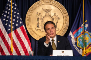 Andrew Cuomo, governor of New York, speaks during a news conference in New York, U.S., on Monday, Oct. 5, 2020. Governor Cuomosaid New York City public and private schools in viral hot spots must close Tuesday, and he threatened to shut religious institutions if members dont follow rules about masks and social distancing.