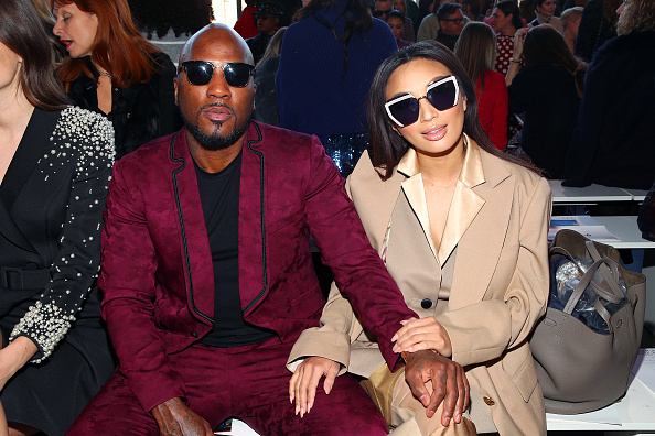 Rapper Jeezy (L) and Jeannie Mai attend the Badgley Mischka front row during New York Fashion Week: The Shows at Gallery I at Spring Studios on February 08, 2020 in New York City.