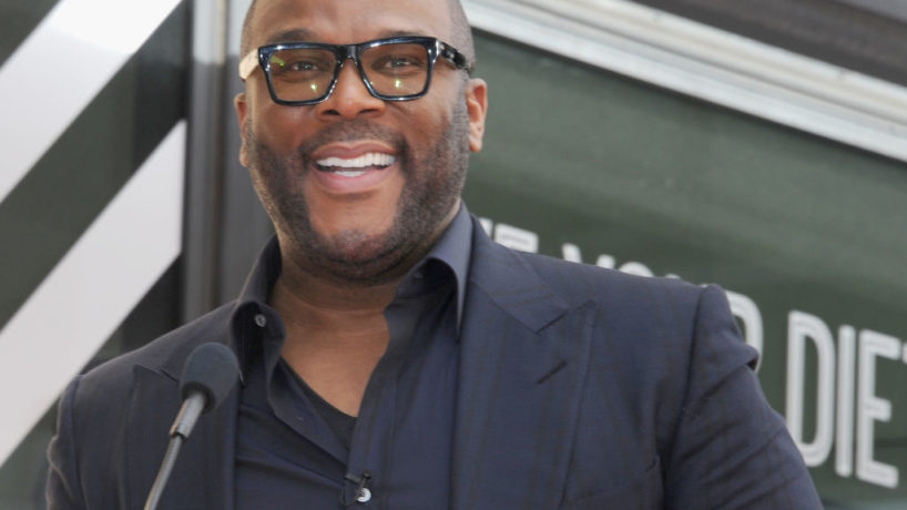 HOLLYWOOD, CA - FEBRUARY 21: Tyler Perry speaks at the Dr. Phil McGraw Star Ceremony On The Hollywood Walk Of Fame on February 21, 2020 in Hollywood, California.