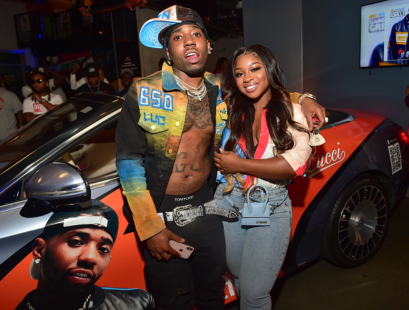 Reginae Carter and YFN Lucci attend 650 LUC: Gangsta Grillz Listening Event at The Garage at Tech Square on June 17, 2019 in Atlanta, Georgia.