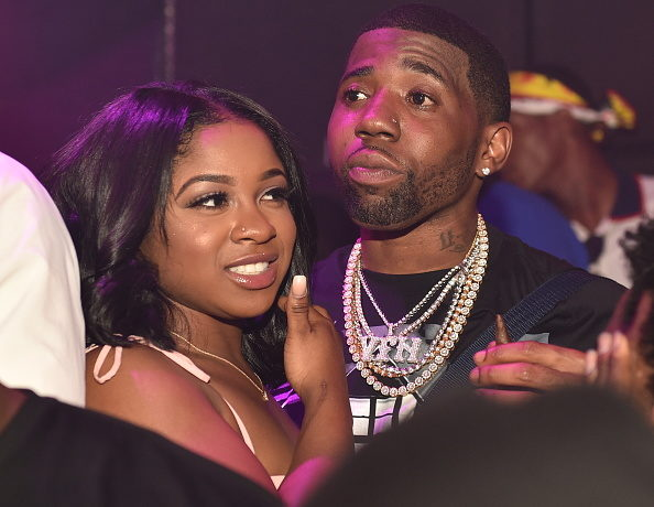 ATLANTA, GA - JUNE 07: Reginae Carter and YFN Lucci attend a Birthday Celebration for Pierre 'Pee' Thomas at Gold Room on June 7, 2018 in Atlanta, Georgia.