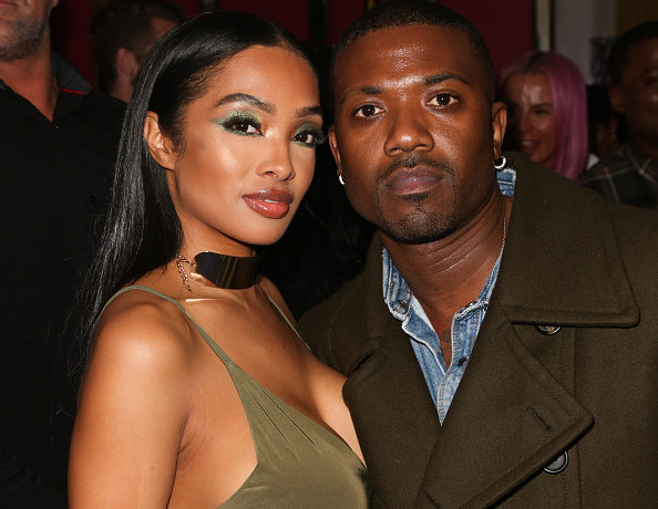 Rapper Ray J (R) and his Wife Princess Love (L) attend Tyga's Birthday celebration at Delilah on November 19, 2018 in West Hollywood, California.