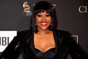 BEVERLY HILLS, CA - FEBRUARY 09: Jazmine Sullivan attends The Recording Academy And Clive Davis' 2019 Pre-GRAMMY Gala at The Beverly Hilton Hotel on February 9, 2019 in Beverly Hills, California.