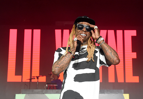 """MIAMI, FL - DECEMBER 09: Lil Wayne performs onstage during BACARDI, Swizz Beatz and The Dean Collection bring NO COMMISSION back to Miami to celebrate """"Island Might"""" at Soho Studios on December 9, 2017 in Miami, Florida."""