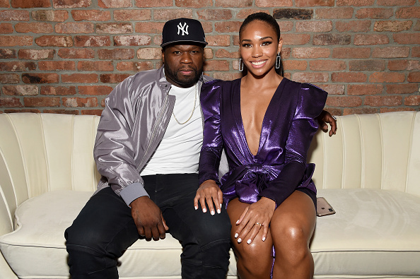 "Curtis ""50 Cent"" Jackson and Jamira at STARZ Madison Square Garden ""Power"" Season 6 Red Carpet Premiere, Concert, and Party on August 20, 2019 in New York City."