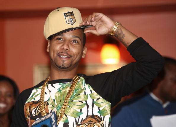 Juelz Santana attends the #GetCoveredTour press conference at Sylvia's on March 28, 2014 in New York City.
