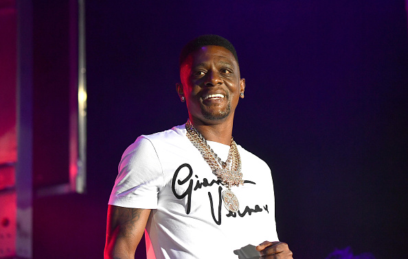 COLLEGE PARK, GEORGIA - AUGUST 15: Boosie Badazz performs onstage during The Parking Lot Concert Series at Georgia International Convention Center on August 15, 2020 in College Park, Georgia.