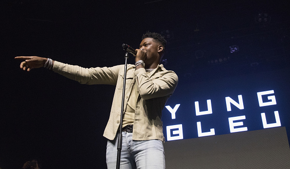 Rapper Yung Bleu performs in support of Kevin Gates during the opening night of the 'Luca Brasi 3 Tour' at ACL Live at ACL Live on October 2, 2018 in Austin, Texas.