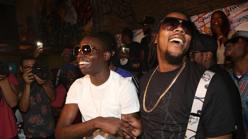 NEW YORK, NY - AUGUST 11: (L-R) Bobby Shmurda and Rowdy Rebel perform during ALife Sessions Presents: Bobby Shmurda & Yo Gotti on August 11, 2014 in New York City.