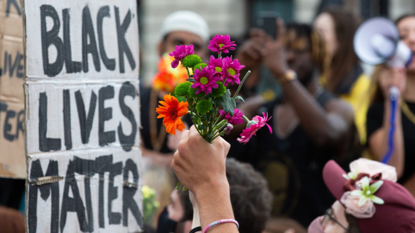 Large crowds march through London in support of 'Black Trans Lives Matter' an offshoot of 'Black Lives Matter'