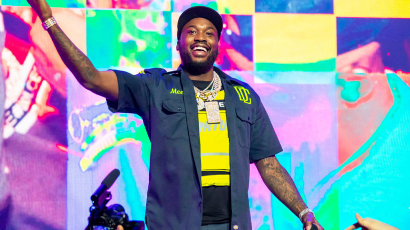 DETROIT, MICHIGAN - MARCH 09: Meek Mill performs during The Motivation Tour at Fox Theatre on March 09, 2019 in Detroit, Michigan.