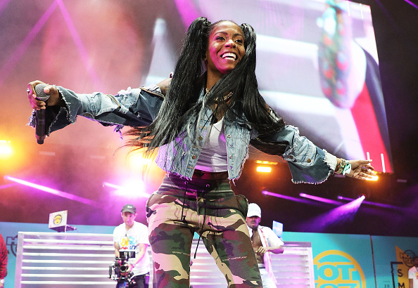 Hood Celebrityy performs at MetLife Stadium on June 10, 2018 in East Rutherford, New Jersey.