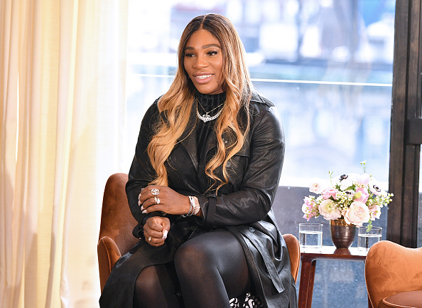NEW YORK, NEW YORK - FEBRUARY 12: Designer Serena Williams speaks at the S By Serena Presentation during New York Fashion Week: The Shows at Spring Place on February 12, 2020 in New York City.