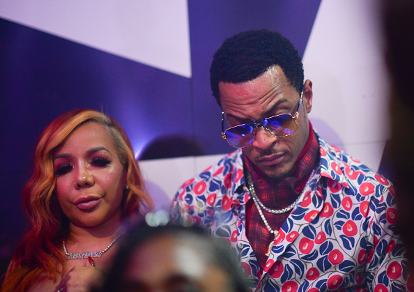 "ATLANTA, GA - OCTOBER 16: T.I. and Tameka 'Tiny' Harris attend ""LIBRA"" Album release Party at Gold Room on October 16, 2020 in Atlanta, Georgia."