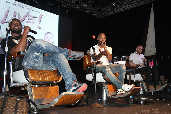 Mal, Joe Budden and Rory attend the Joe Budden Podcast Live at Highline Ballroom on July 21, 2017 in New York City.