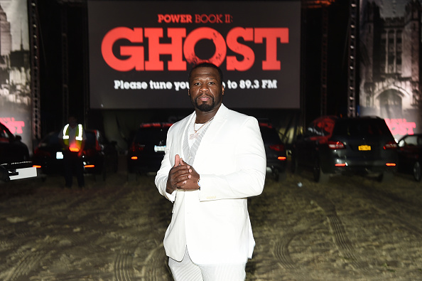 """WATER MILL, NEW YORK - SEPTEMBER 05: Curtis """"50 Cent"""" Jackson attends the Hamptons premiere of """"POWER BOOK II: GHOST"""" presented by STARZ & Curtis """"50 Cent"""" Jackson on September 05, 2020 in Water Mill, New York."""