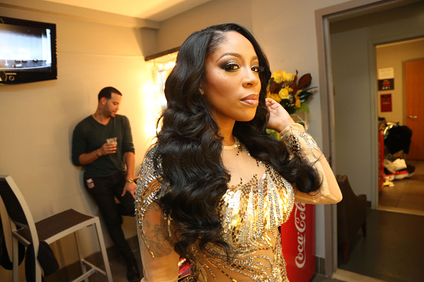 NEW YORK, NY - DECEMBER 09: Recording artist K Michelle seen backstage at The Apollo Theater on December 9, 2014 in New York City.