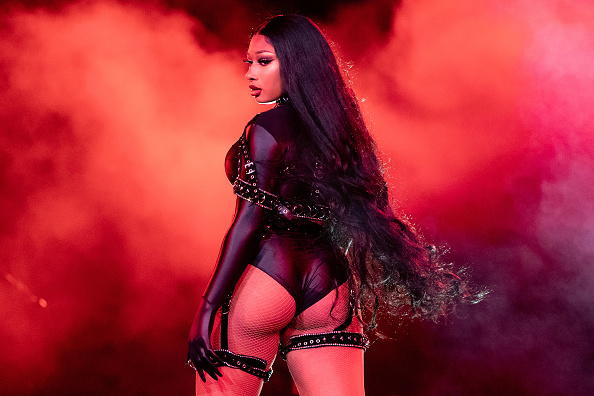 """MORRISON, COLORADO - SEPTEMBER 02: Megan Thee Stallion performs onstage during Day 2 of """"Red Rocks Unpaused"""" 3-Day Music Festival presented by Visible at Red Rocks Amphitheatre on September 02, 2020 in Morrison, Colorado."""