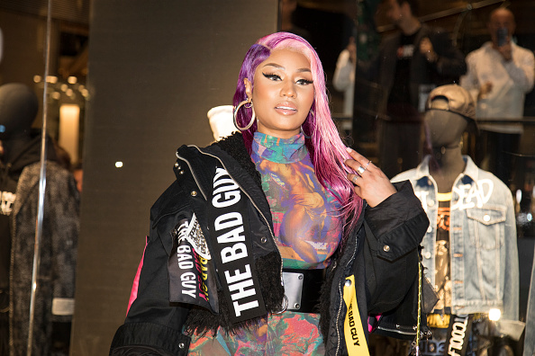 """Nicki Minaj at the Diesel Store. In the picture: Nicki Minaj. Nicki Minaj presented at the Store Diesel his special """"Diesel Haute Couture"""" capsule collection created in collaboration with the famous Italian brand Diesel. Milan, September 20th, 2018"""