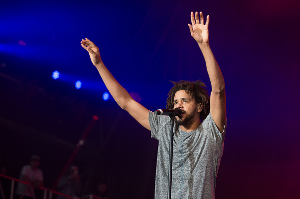 J. Cole performs live at Pemberton Music Festival on July 15, 2016 in Pemzberton, BC.
