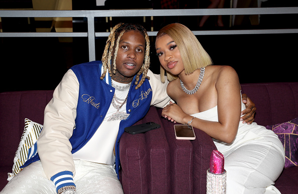 (L-R) Lil Durk and India Royale attend the BET Awards 2021 at Microsoft Theater on June 27, 2021 in Los Angeles, California.